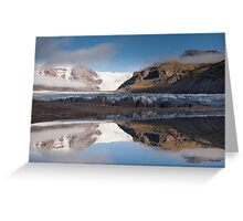Svinafellsjokul glacier & lake Greeting Card
