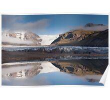 Svinafellsjokul glacier & lake Poster