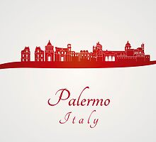Palermo skyline in red by paulrommer