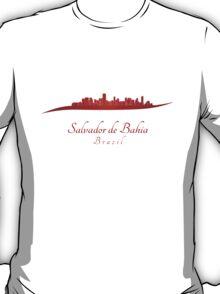 Salvador de Bahia skyline in red T-Shirt