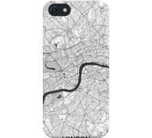 London Map Gray iPhone Case/Skin