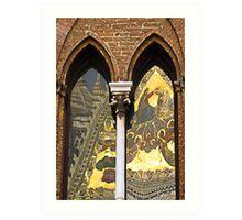 Siena cathedral reflection 2, Siena, Italy Art Print
