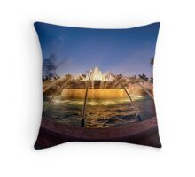 Fiddler's Creek Fountain at Twilight Throw Pillow