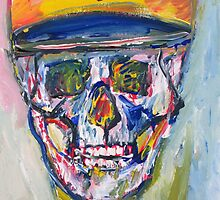 SKULL with  BASEBALL HAT by lautir