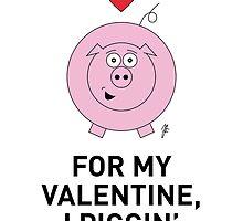 PIG VALENTINE CARD by mjfouldes