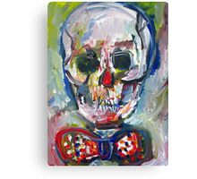 SKULL with BOW TIE Canvas Print