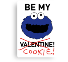 COOKIE MONSTER VALENTINE'S CARD Canvas Print