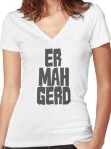 Er. Mah. Gerd. Women's Fitted V-Neck T-Shirt