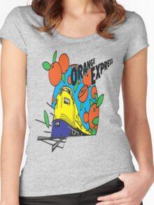 Orange Express Train Women's Fitted Scoop T-Shirt