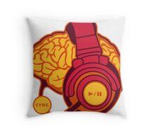 Brain-Sync Throw Pillow
