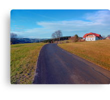 Country road, scenery and blues sky | landscape photography Canvas Print