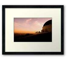 Griffith Observatory Dome - Los Angeles Framed Print