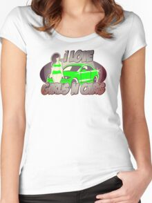 Pinup-Girls: I love girls ´n cars Women's Fitted Scoop T-Shirt