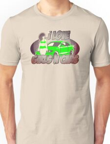 Pinup-Girls: I love girls ´n cars Unisex T-Shirt
