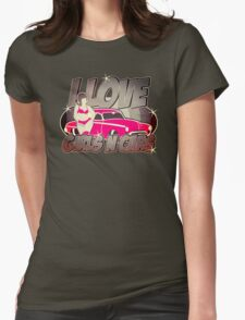 Pinup-Girls: I love girls ´n cars Womens Fitted T-Shirt