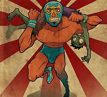 Zombie Luchador by Jitenshasw
