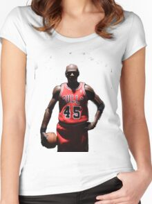 MJ 23 Women's Fitted Scoop T-Shirt