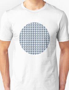 dino 4 blue pattern! Unisex T-Shirt