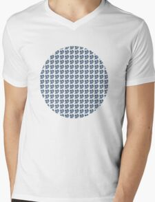 dino 4 blue pattern! Mens V-Neck T-Shirt