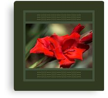 Gladioli Manhattan Designed Accessories  Canvas Print