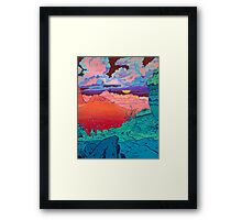 Pink Clouds Framed Print