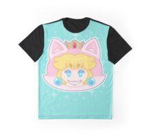 sparkle cat peach Graphic T-Shirt