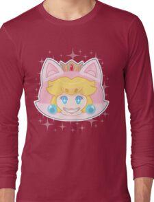 sparkle cat peach Long Sleeve T-Shirt