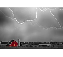 Farm Storm HDR BWSC Photographic Print