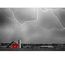 Farm Storm HDR BWSC Photographic Print