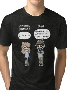 """I love you"" in Sherlockian Tri-blend T-Shirt"