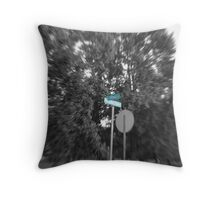 Boring Street Throw Pillow