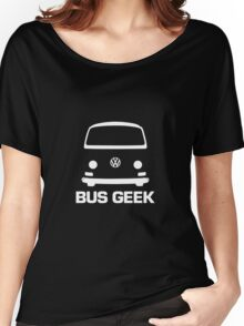 VW Camper Bay Bus Geek White Women's Relaxed Fit T-Shirt