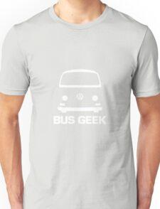 VW Camper Bay Bus Geek White Unisex T-Shirt