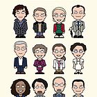 Sherlock and Friends (poster or print) by redscharlach