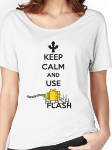 Keep Calm and Use Flash Women's Relaxed Fit T-Shirt
