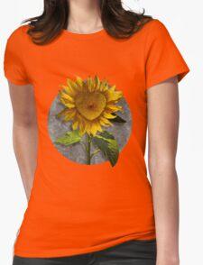 Heart Sunflower Womens Fitted T-Shirt