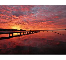Sunrise on Lake Macquarie, NSW Australia Photographic Print