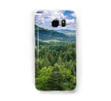 Mountains covered in pine trees Samsung Galaxy Case/Skin