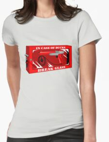 In case of ducks  Womens Fitted T-Shirt