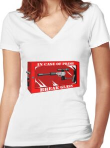 In Case of Prime Women's Fitted V-Neck T-Shirt