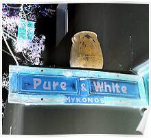 Pure White Poster