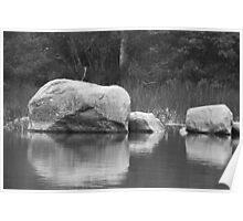 Echo Lake Reflection B&W Poster
