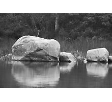 Echo Lake Reflection B&W Photographic Print