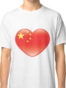 Chinese_heart_flag Classic T-Shirt