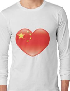 Chinese_heart_flag Long Sleeve T-Shirt