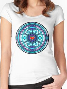 Love Crystal Women's Fitted Scoop T-Shirt
