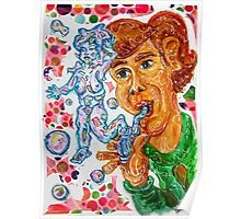 Man with a Bubble Pipe Poster