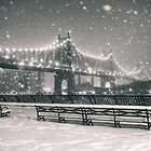 New York City - Snowy Night by Vivienne Gucwa