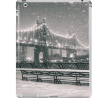 New York City - Snowy Night iPad Case/Skin