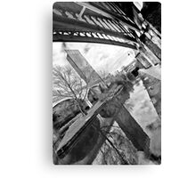 Reflection on old and new Manchester Canvas Print